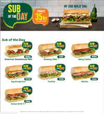 Erbjudanden från Subway, Sub of the day!